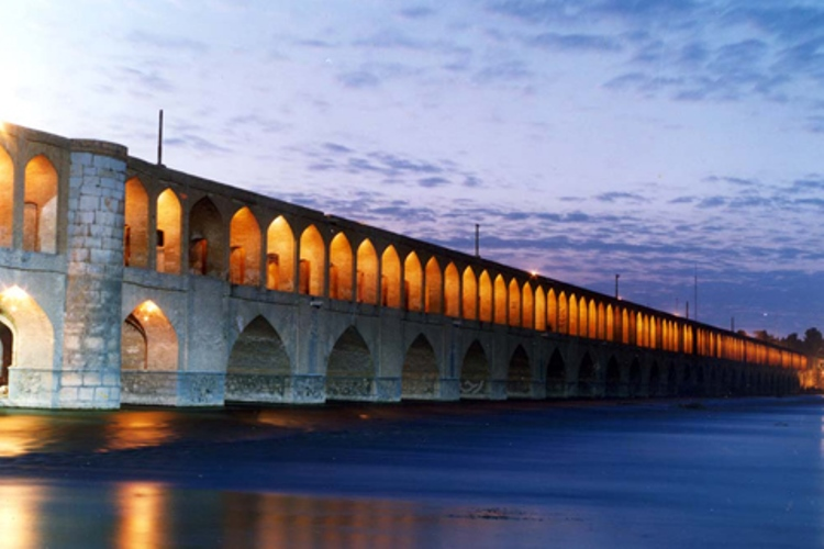 Si-o-se-Pol Bridge is built by the chancellor Allahverdi Khan Undiladze on commission from from Shah Abbas whose chancelor he was.